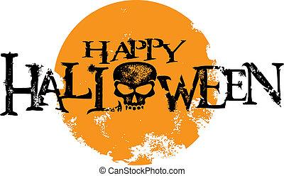 halloween, graphique, grunge, heureux