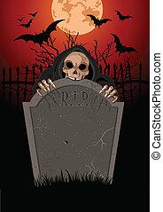 halloween, moissonneur menaçant