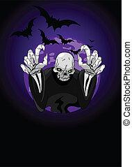 halloween, reaper, sinistre, horrible