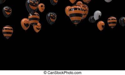 halloween, transition, alpha, ballons, canal