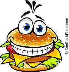 hamburger, appétissant