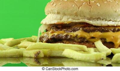hamburger, délicieux