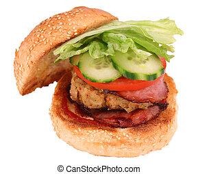 hamburger poulet