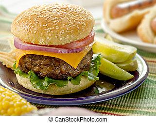 hamburger, repas