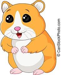 hamster, poser, isolé, mignon