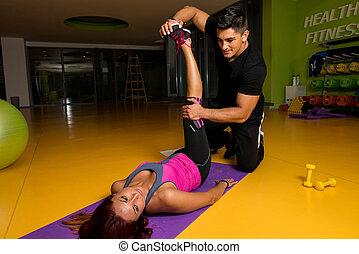 hanche, thérapie, -, physique