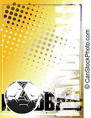 handball, arrière-plan doré, affiche