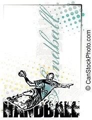 handball, fond, affiche