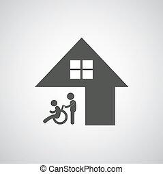 handicapé, soin, signe