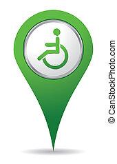 handicap, emplacement