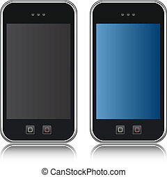 handphone, téléphone, vecteur, cellulaire, iso