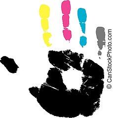 handprint, illustration