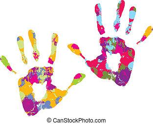 handprint., vecteur, illustration