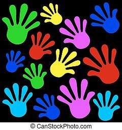 handprints, fond