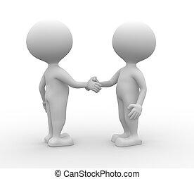 handshake., -, association