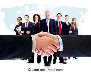 handshake., professionnels