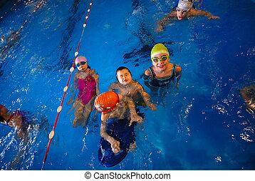.happy, nageurs