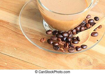 haricot, café, chaud
