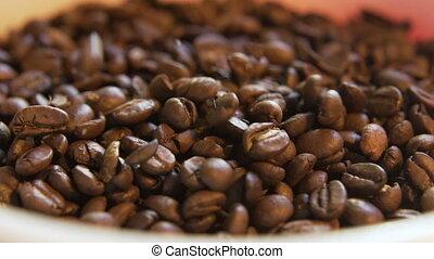 haricots, café, empiler