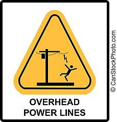 hasardeux, vecteur, bannière, above., tension, avertissement