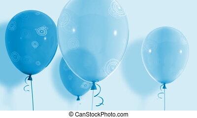haut, 035, boucle, flotter, hd, ballons