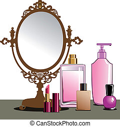 haut, faire, miroir