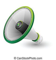 haut-parleur bruyant