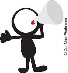 haut-parleur, stickman