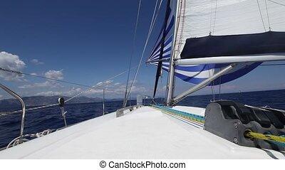 (hd), yacht., sailing., croisière luxe