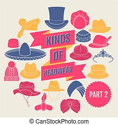 headwear., 2, genres, partie