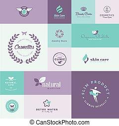 healthcare, ensemble, beauté, icônes