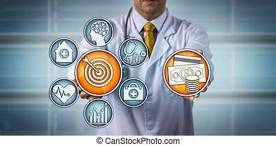 healthcare, présentation, value-based, modèle, docteur