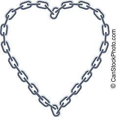 heart., chaîne argent