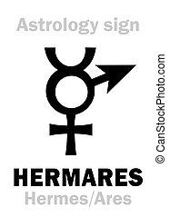 (hermes+ares), astrology:, hermares