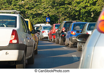 heure pointe, congestion