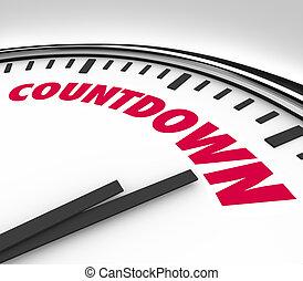 heures, compte rebours, horloge, bas, dénombrement, minutes, final