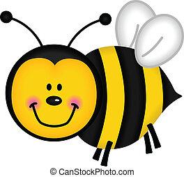 heureux, abeille
