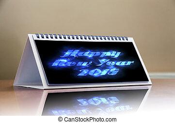 heureux, année, 2015, nouveau, célébration, duper