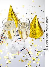 heureux, collection, nouvel an
