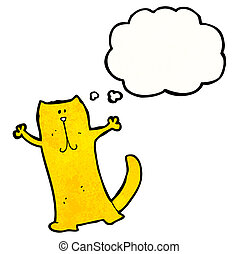 heureux, dessin animé, chat