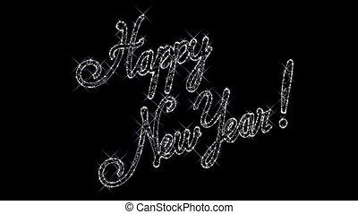 heureux, fond, nouvel an