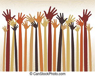 heureux, hands., célébration