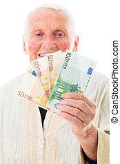 heureux, paiement, jour, pension