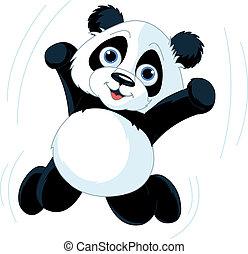 heureux, panda