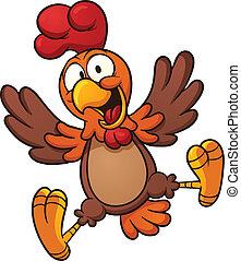 heureux, poulet
