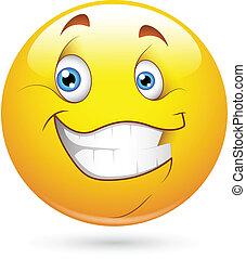 heureux, smiley, caractère, figure