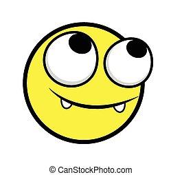 heureux, smiley, innocent, figure