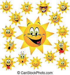 heureux, soleil