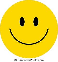 heureux, vecteur, smiley., figure