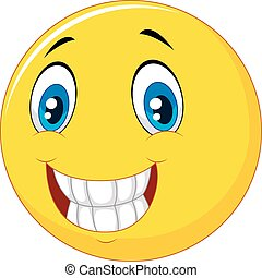 heureux, visage smiley